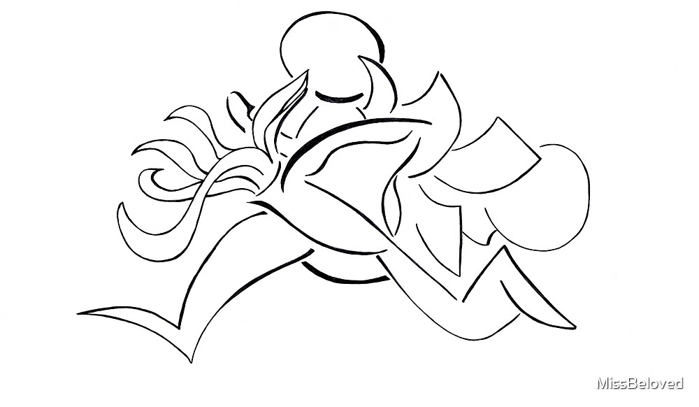Doodle of Running Man - White Version by MissBeloved