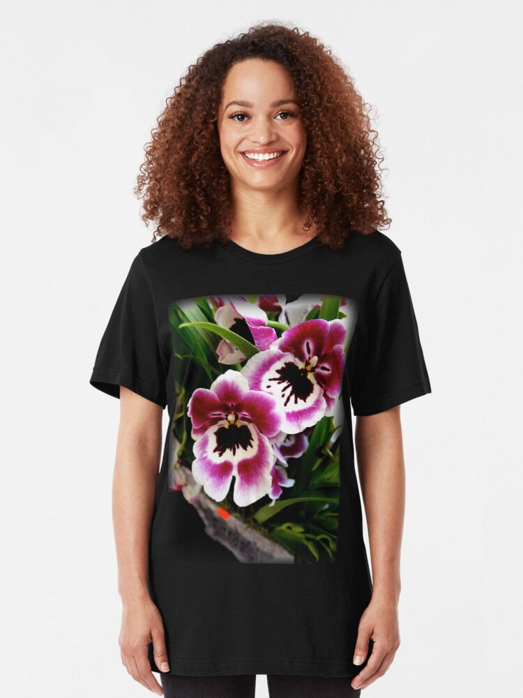 Alternate view of Orchids Slim Fit T-Shirt