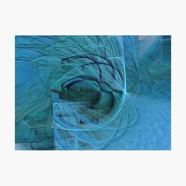 Blue, Blue and Blue Photographic Print