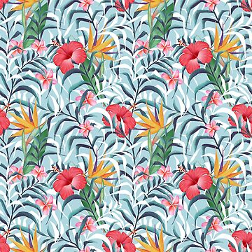 Tropical plants. Seamless floral pattern by Gribanessa