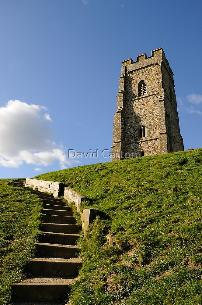 St Michael's Tower, Glastonbury Tor, Somerset, UK by David Carton