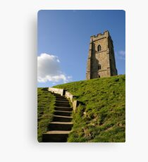 St Michael's Tower, Glastonbury Tor, Somerset, UK Canvas Print