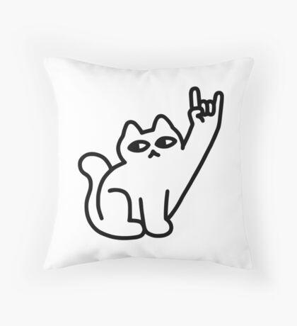 Cats Like Metal Throw Pillow