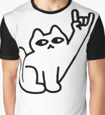 Cats Like Metal Graphic T-Shirt