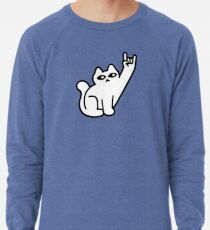 Cats Like Metal Lightweight Sweatshirt
