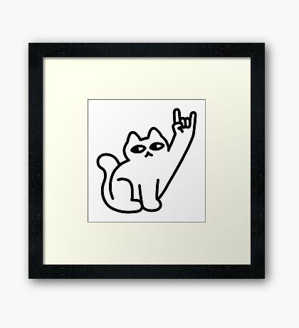 Cats Like Metal Framed Print