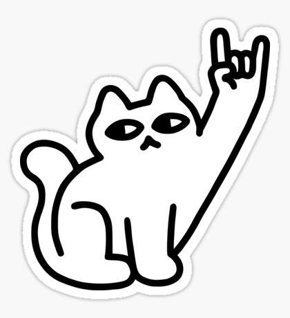 Cats Like Metal Glossy Sticker