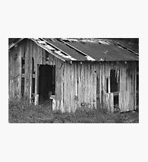 Old Barn BW Photographic Print