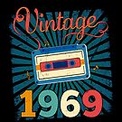 50th Birthday Retro Vintage 1969 Cool Old School  by SpecialtyGifts