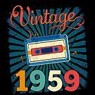 60th Birthday Retro Vintage 1959 Cool Old School  by SpecialtyGifts