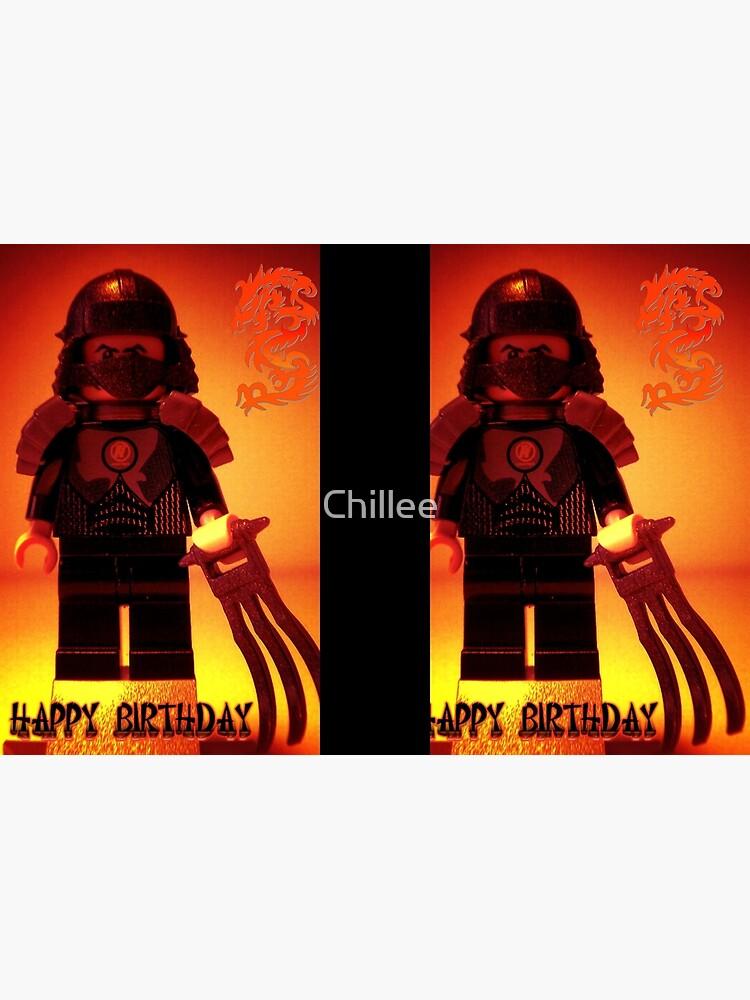 Happy Birthday Greeting Card TMNT Teenage Mutant Ninja Turtles Master Shredder Custom Minifig von Chillee