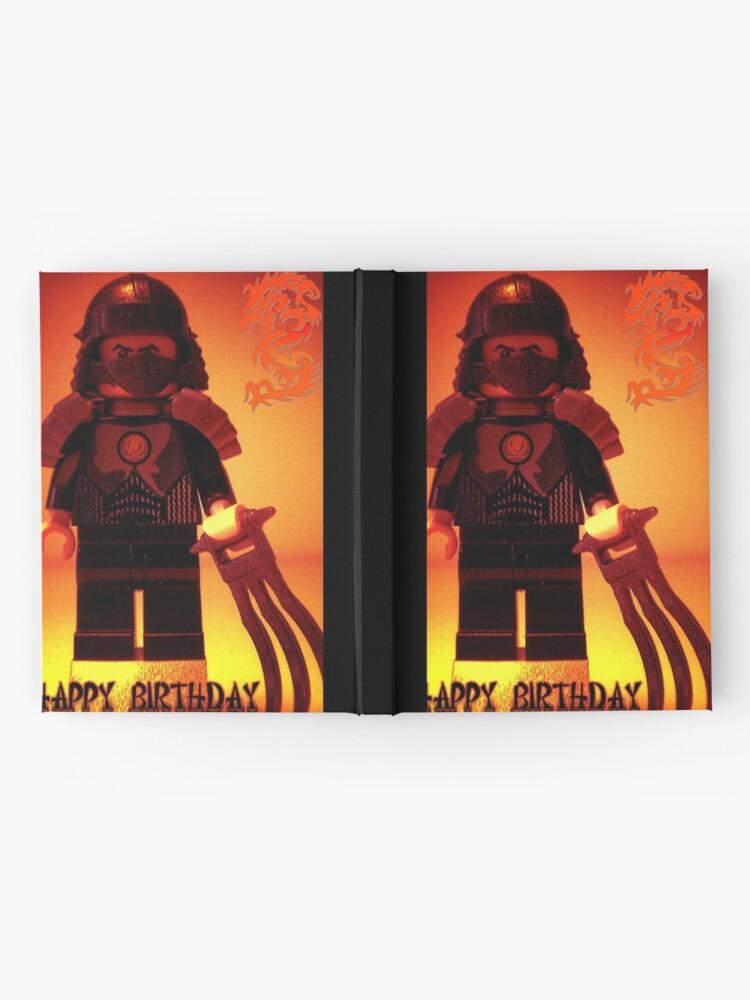 Alternative Ansicht von Happy Birthday Greeting Card TMNT Teenage Mutant Ninja Turtles Master Shredder Custom Minifig Notizbuch