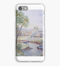 Down near the River - Watercolour iPhone Case/Skin
