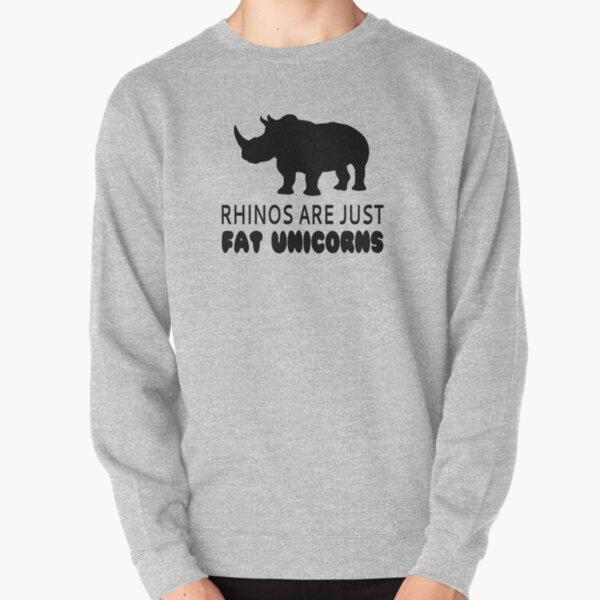 Lets Make A Unicorn Mens Womens Unisex Sweatshirt Lovely Horse and Rhino Couple