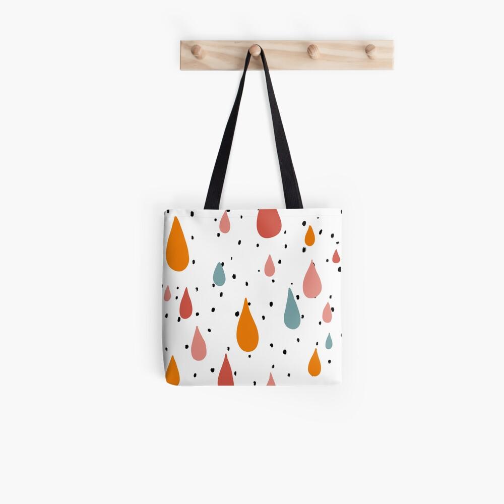 colorful Raindrops abstract design Tote Bag