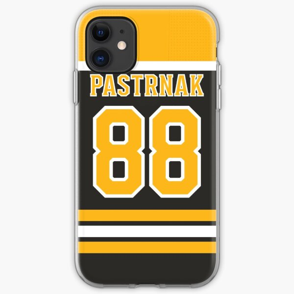 Boston Bruins David Pastrnak Home Jersey Back Phone Case iPhone Soft Case