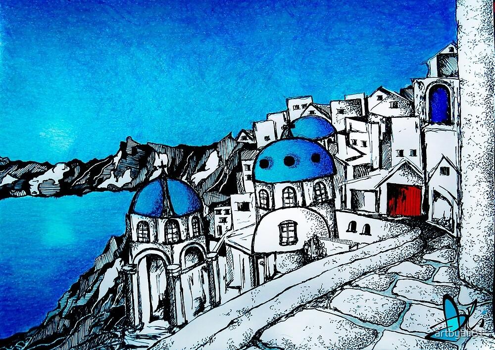 SANTORINI BLUE by artbyali81