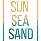 Sun sea sand by NadjaDesigns