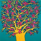 Keith Haring - Colorful tree by Selfcontrol
