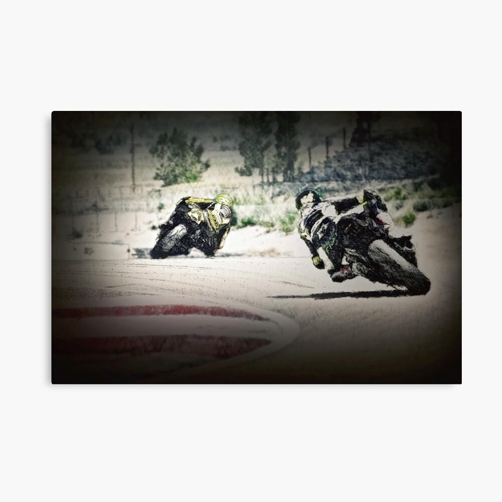Rennmotorräder Leinwanddruck