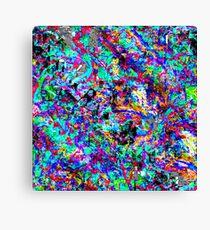 colour chaos pattern Canvas Print