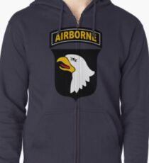 101st Airborne Division (US Army) Zipped Hoodie