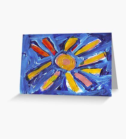 Big Sun Greeting Card