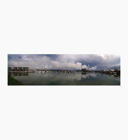 Townsville Breakwater Marina - The wet season begins Photographic Print