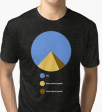Pyramid Pie Chart Tri-blend T-Shirt