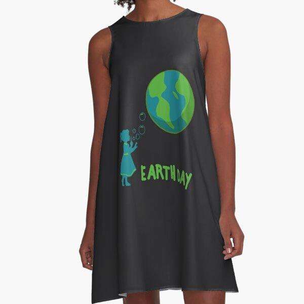 Earth Day Art | Cute Girls' Mother Earth Costume Art Gift A-Line Dress