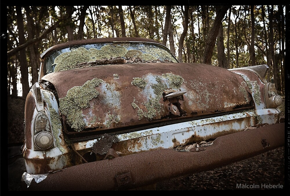 Automotive Graveyard - Moody by Malcolm Heberle