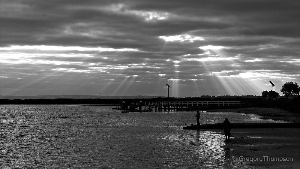 Fishermen on the Barwon River by GregoryThompson
