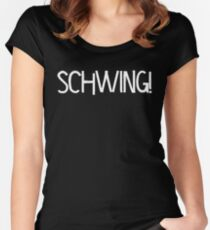 Schwing! by Chillee Wilson Women's Fitted Scoop T-Shirt