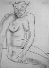 female nude ... pencil sketch # 4 by Juilee  Pryor