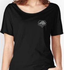 Metal Gear Solid - Diamond Dogs over Heart (Gray)  Women's Relaxed Fit T-Shirt