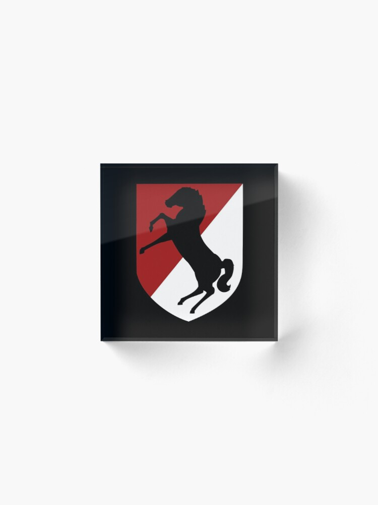 Alternate view of 11th Armored Cavalry Regiment (US Army) Acrylic Block
