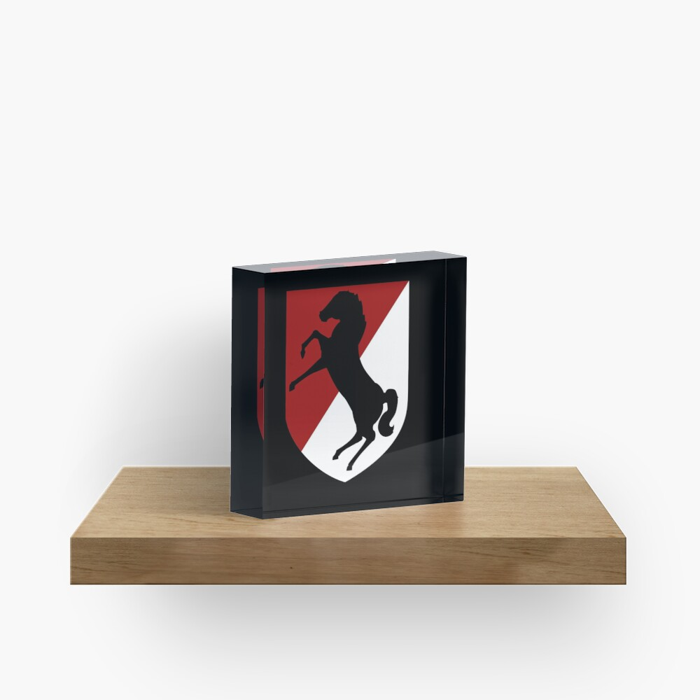 11th Armored Cavalry Regiment (US Army) Acrylic Block