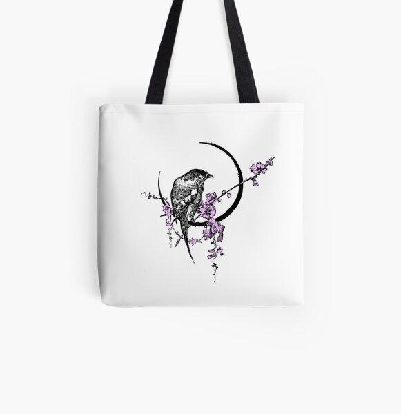 Songbird - Single Bird All Over Print Tote Bag