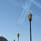 San Francisco, CA: Blue Angels Fly Over Pier 39 by tpfmiller