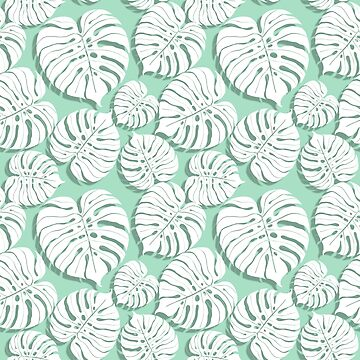 Palm monstera seamless pattern by Gribanessa