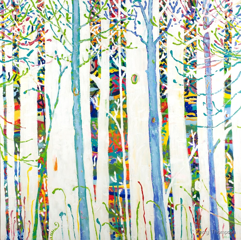 Blue trees by Kerry  Thompson