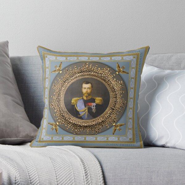 Czar Nicholas II Throw Pillow