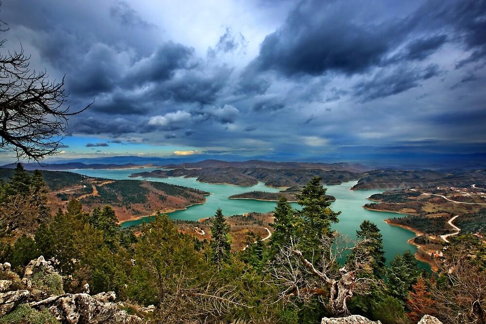 Panorama of Plastiras lake by Hercules Milas