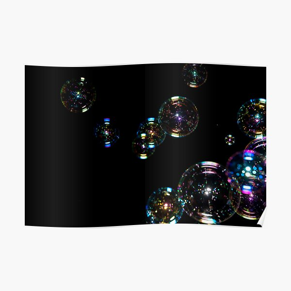 Bubbles at night Poster