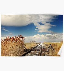 Railroad on Spring Afternoon Poster