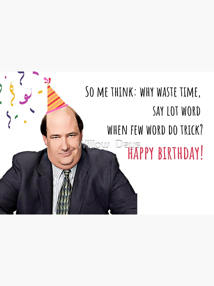 The Office Us Greeting card, Kevin Malone birthday card, Office birthday card, Office mug, office stickers, Happy birthday card by avit1