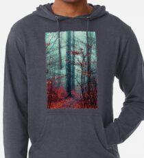 Dreaming On - Magical Forest Scene Lightweight Hoodie