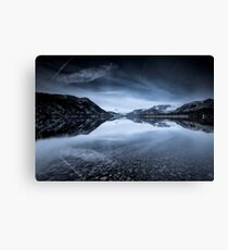 Ullswaters Reflections in Monochromatic Canvas Print