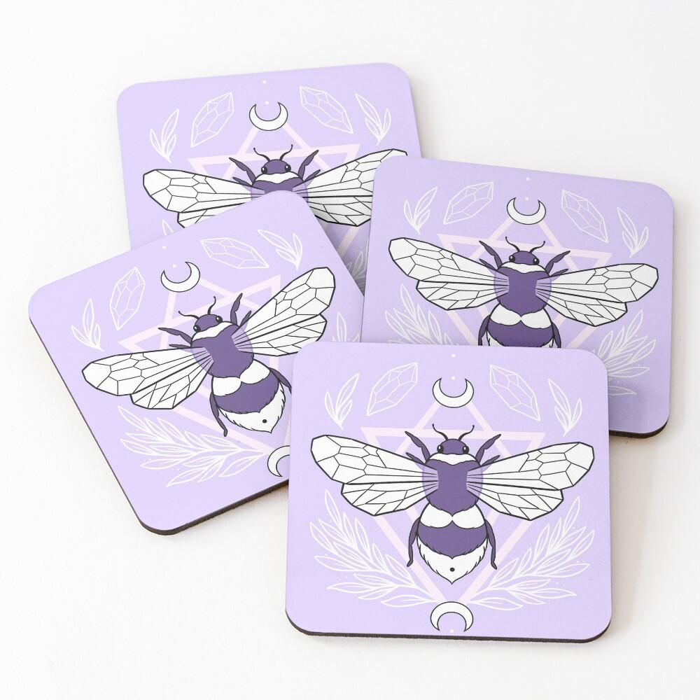 Bee Queen // Pastel | Nikury Coasters (Set of 4)