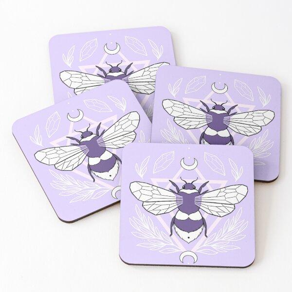 Bee Queen // Pastel   Nikury Coasters (Set of 4)